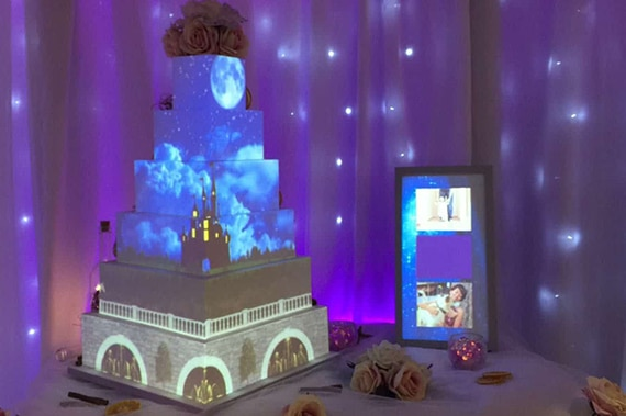 wedding video projection mapping