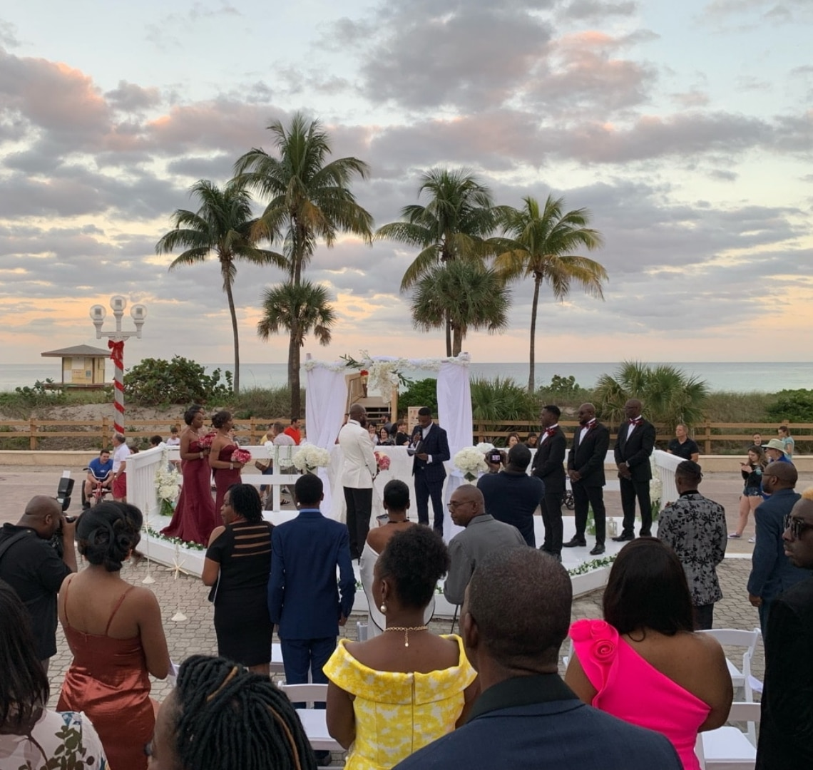 beach ceremony in ft lauderdale